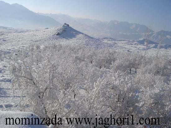 چهارمین برف زمستانی در جاغوری